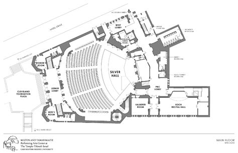 technical drawing floor plan technical drawings maltz performing arts center case