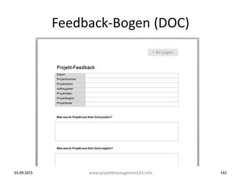 Word Vorlage Projekt feedback vom projektteam einfordern mit feedback bogen