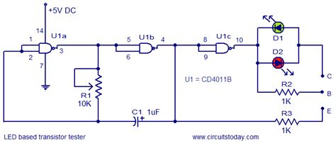 transistor tester circuit led based transistor tester electronic circuits and diagrams electronic projects and design