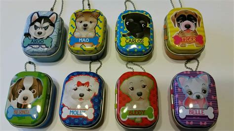 puppy club puppy club lucky charm figures with it own keychain tin set of 8 cheap ebay