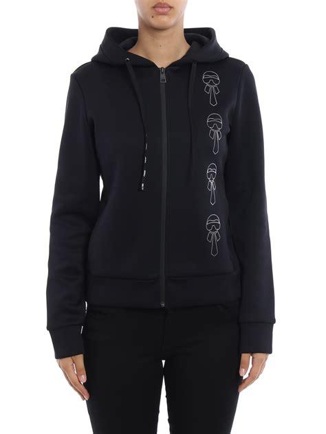 Karlito Black Sweater karlito scuba zipped hoodie by fendi sweatshirts