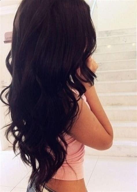 long dark hair with volume pinterest quelle couleur choisir pour ses cheveux longs coiffure