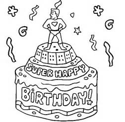 happy birthday coloring card colour drawing free wallpaper happy birthday cake for kid