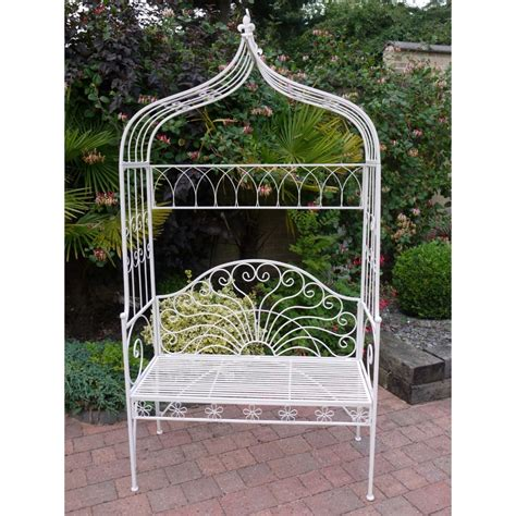 arch bench white garden arbour bench and metal arch swanky interiors