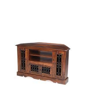 Retro Dining Room Table Jali Sheesham Wood Corner Tv Cabinet