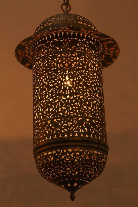 Vintage Moroccan Brass Filigree Pendant Light Fixture At Moroccan Lights