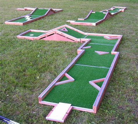 backyard miniature golf homes should have mini golf courses for those stressful