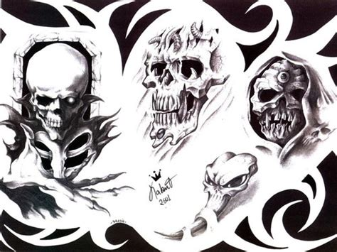 gothic skull tattoo designs tattoos style design photos popular designs