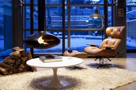 Orb Fireplace orb hanging steel fireplace contemporary family room chicago by dspace studio ltd aia