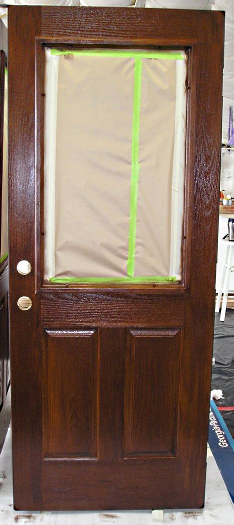 staining  fiberglass door  practical house painting