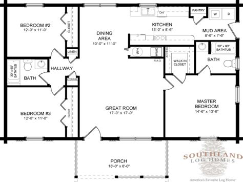 floor plans one story single story log home floor plans large single story log