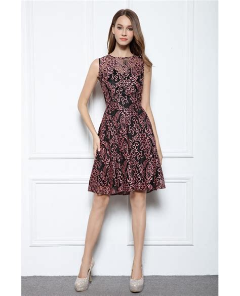 Cocktail Dress A Line a line scoop neck knee length lace sleeveless formal dress dk367a 56 9 gemgrace