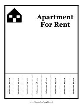 apartment for rent flyer template 14 free flyers for real estate