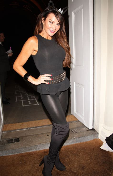 tight shiny lizzie cundy in tight spandex sketch halloween party london