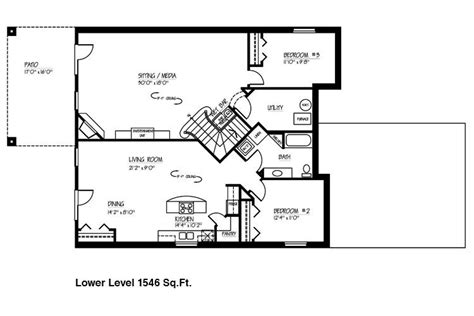 small house floor plans with basement new small house plans with basements new home plans design
