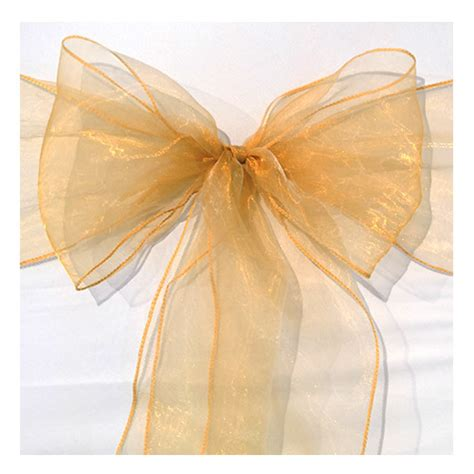 organza chair sashes organza chair sash gold faraway event rentals koh samui