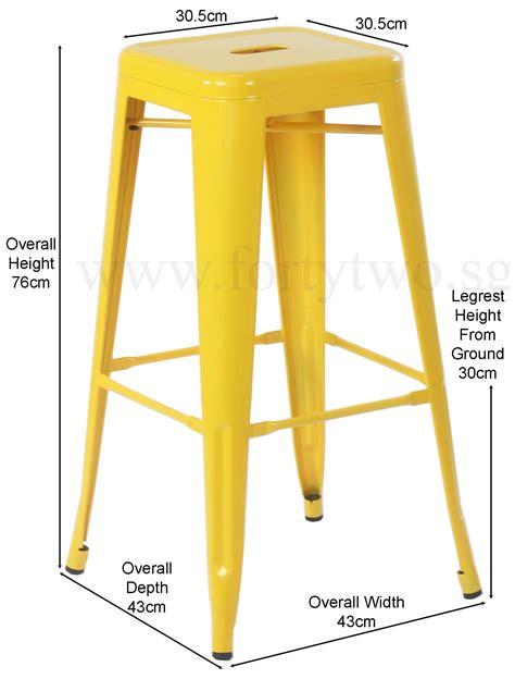 Retro Metal Bar Stools by Retro Metal High Stool Yellow Bar Stools Living Room