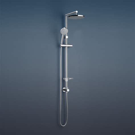 Caroma Essence Bathroom Wall Rail Shower With Overhead Bathroom Shower Rails