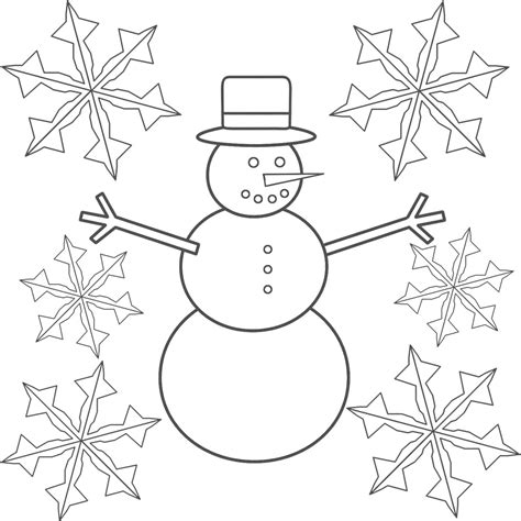 Snow Coloring Pages Free free printable snowflake coloring pages for