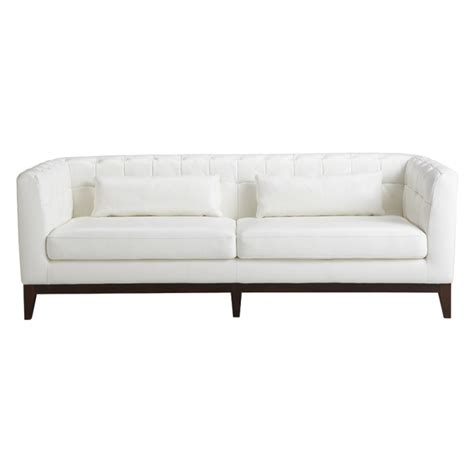 White Sofas Leather Randolph White Leather Sofa Buy Leather Sofas Living Room Store