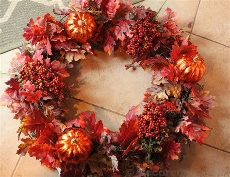 how to make an easy wreath fall front door wreath