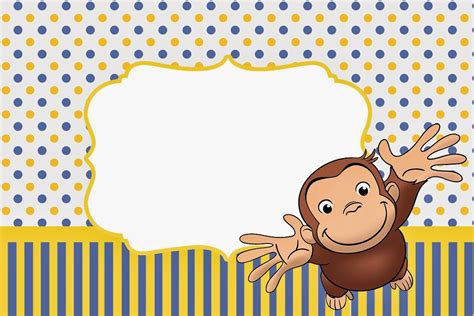 Curious George Baby Shower Invitations by Free Printable Curious George Baby Shower Invitation