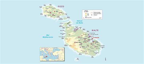0004490487 carte touristique malta and carte malte et des pays voisins pays monde