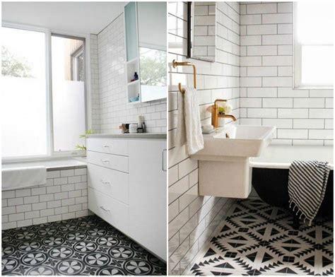 salle de bain blanc et noir carrelage salle de bain noir et blanc duo intemporel