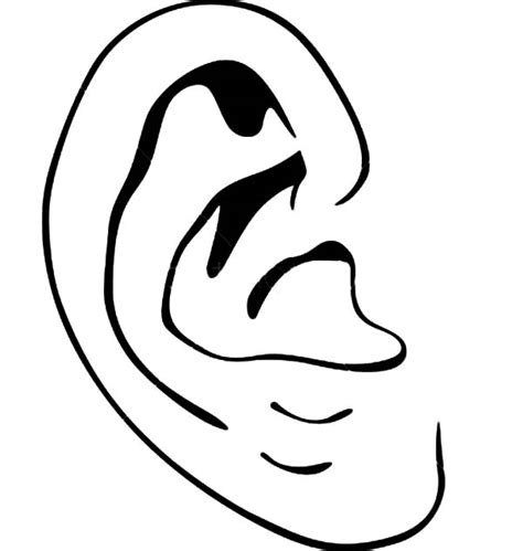 coloring page ear best photos of pair of ears coloring page listening ear
