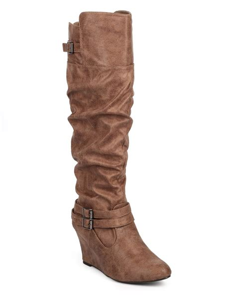 new qupid valley 07 suede almond toe knee high