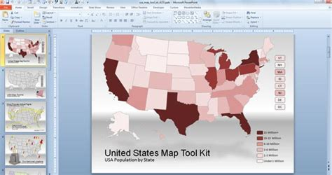 Best Editable Usa Map Designs For Microsoft Powerpoint Powerpoint Us Map Template Free