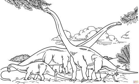 Barosaurus Hypselosaurus Brachiosaurus And Gallimimus Brachiosaurus Coloring Page