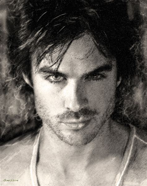 Drawing B W by Ian Somerhalder Drawing B W Ian Somerhalder Fan