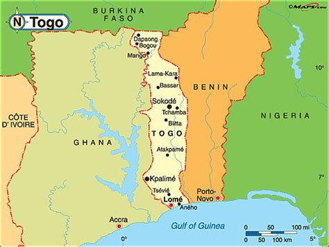 political map of togo togo political map by maps from maps world s
