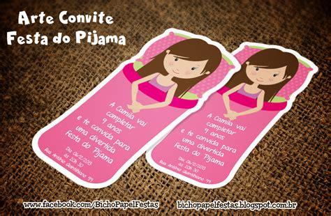 Modelo De Convite Para Festa Convites Para Festa Junina Bicho Papel Arte Convite Festa Do Pijama