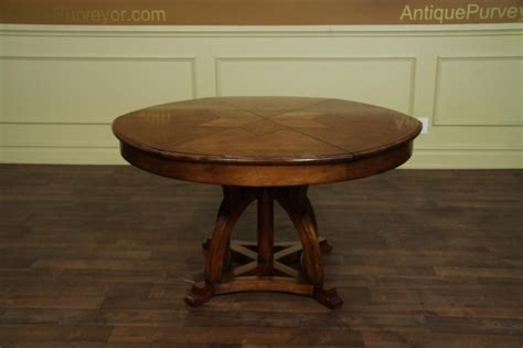 Expandable Round Dining Room Table Solid Walnut Round Arts And Crafts Expandable Dining Room