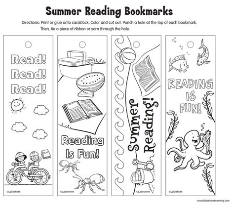 printable summer reading bookmarks 39 best images about bookmarks to color on pinterest