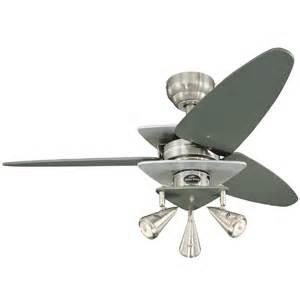 lowes harbor ceiling fans shop harbor 42 in vector brushed nickel ceiling fan