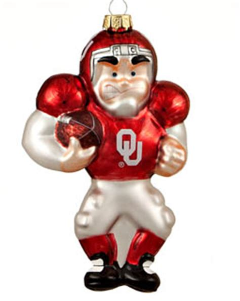oklahoma football player christmas ornament college football