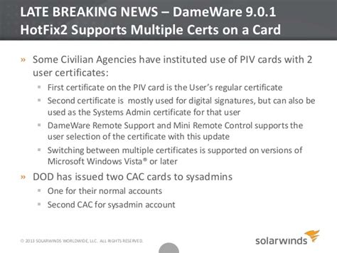 cac card help desk solarwinds online federal user group