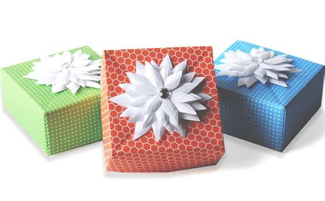 Origami Wrapping Paper Gift Box - diy origami gift box paper craft