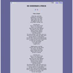 ed sheeran a team lyrics lyrics ed sheeran pearltrees