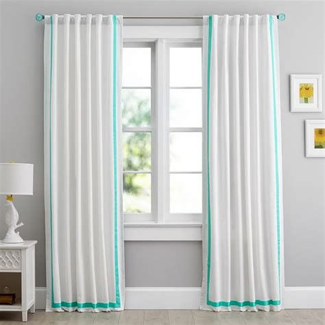 teen bedroom curtains suite ribbon blackout drape pbteen