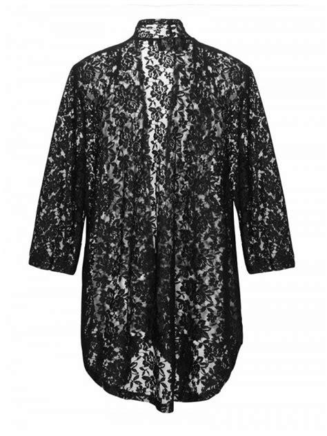 Robin Plus Size Lace Jacket in Black
