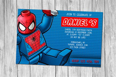 printable birthday invitations spiderman free lego birthday invitations bagvania free printable