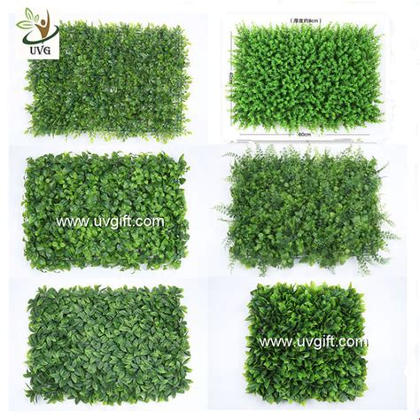 garden decoration application uvg artificial green living wall with plastic grass for