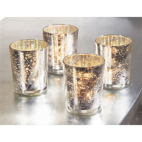 Glass Votives Silver Mercury Glass Votives Mud Pie Mud Pie