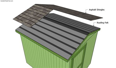 Shingling A Shed Roof by Building A Shed Roof Free Garden Plans How To Build Garden Projects