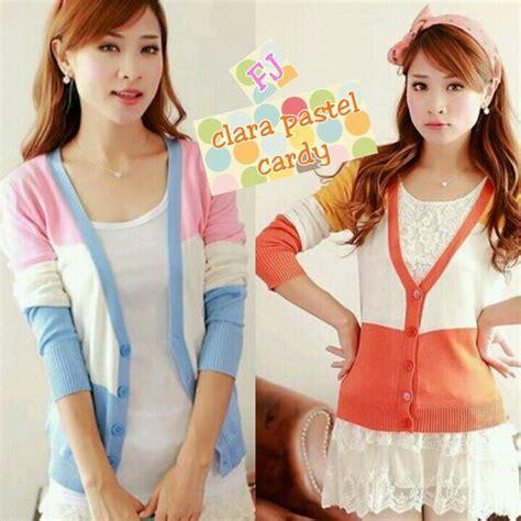 Baju Korea Atf041 Batwing baju kardigan rajut clara pastel batwing cardigan