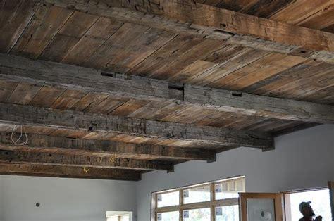 reclaimed barnwood ceiling love my dream house pinterest